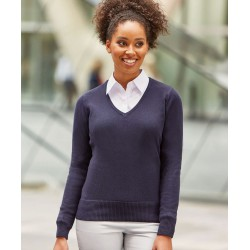 SWETER DAMSKI V-NECK KNITTED